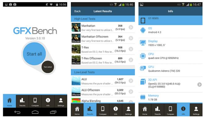 تطبيق GFXBench Android Benchmark