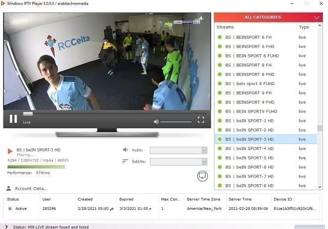 سيرفر IPTV تجريبي بمئات القنوات المشفرة 2
