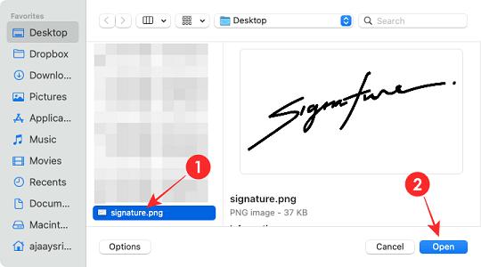 إضافة توقيع لملفات PDF