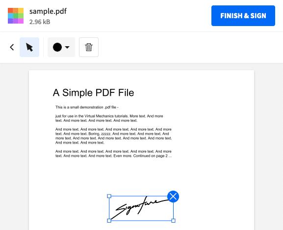 إضافة توقيع لملفات PDF 2