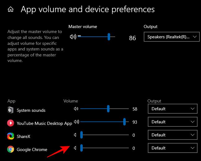 التحكم في مستوى الصوت لكل تطبيق من تطبيقات الحاسوب 3
