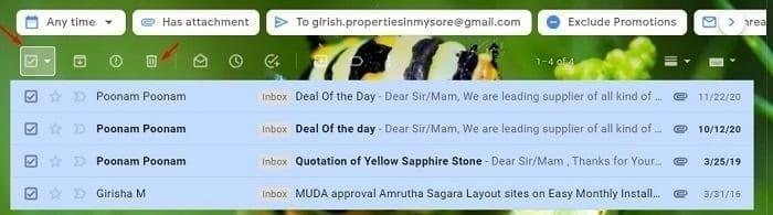 تحرير المزيد من المساحة في خدمة البريد الإلكتروني Gmail