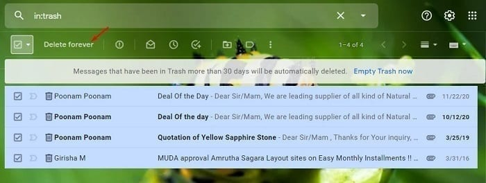 تحرير المزيد من المساحة في خدمة البريد الإلكتروني Gmail 1