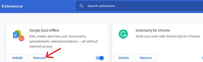 قم بإلغاء تثبيت ملحقات Chrome غير الضرورية