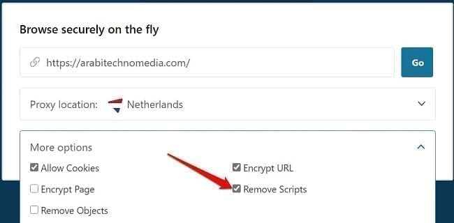 استخدام بروكسي خاص Proxy