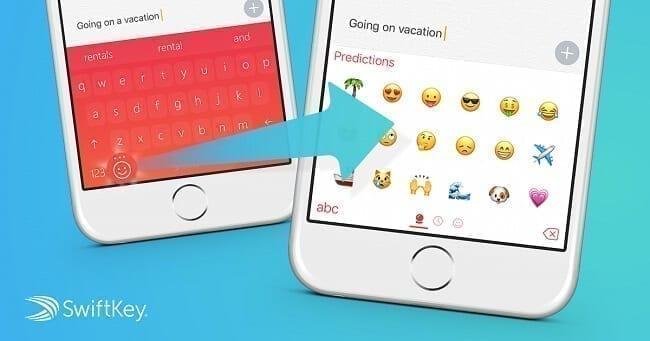 تطبيق Swift Keyboard emoji
