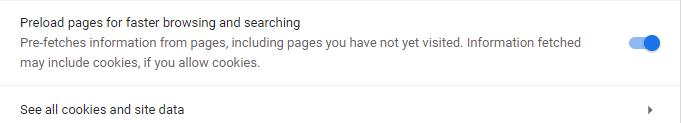 قم بتشغيل خدمة التنبؤ في متصفح جوجل كروم