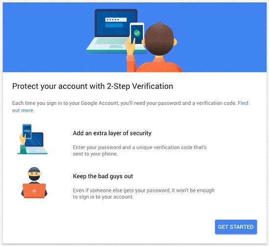 حماية حساب البريد الإلكتروني Gmail