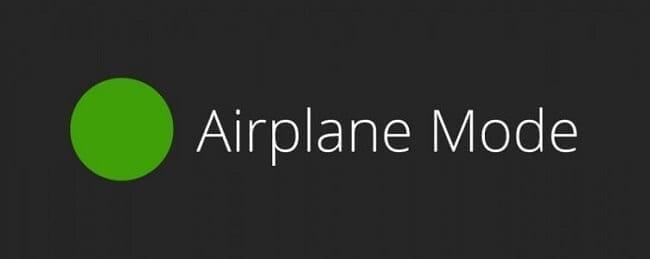 وضع الطائرة