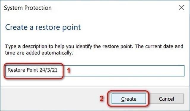 System Restore 1