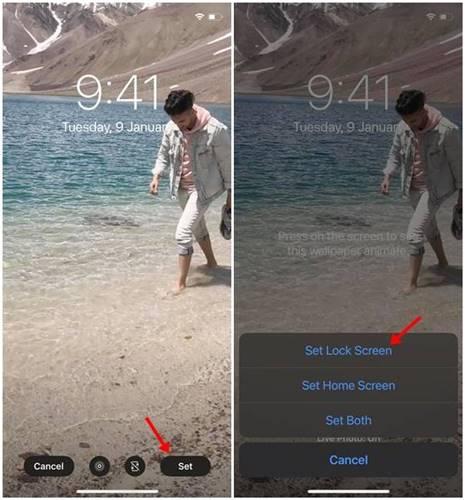 تعيين فيديو كخلفية شاشة هاتف الآيفون 3