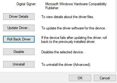 استعادة برنامج التشغيل القديم 1