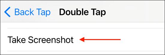 لقطة شاشة في هاتف الآيفون 4