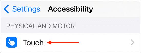 لقطة شاشة في هاتف الآيفون 1