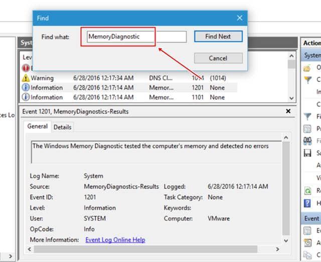 تشخيص مشاكل الرام في نظام التشغيل ويندوز 10 2