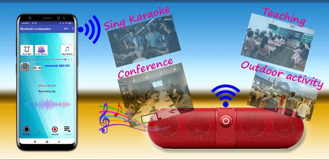 تطبيق Bluetooth Loudspeaker تطبيقات تحويل هاتف الأندرويد إلى ميكروفون