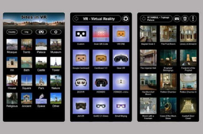 تطبيق Sites in VR