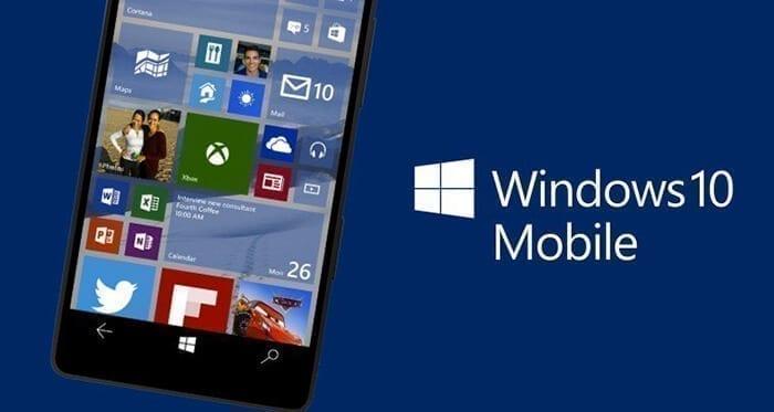 نسخة Windows 10 Mobile