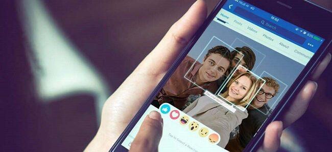ميزة التعرف على الوجه في فيسبوك