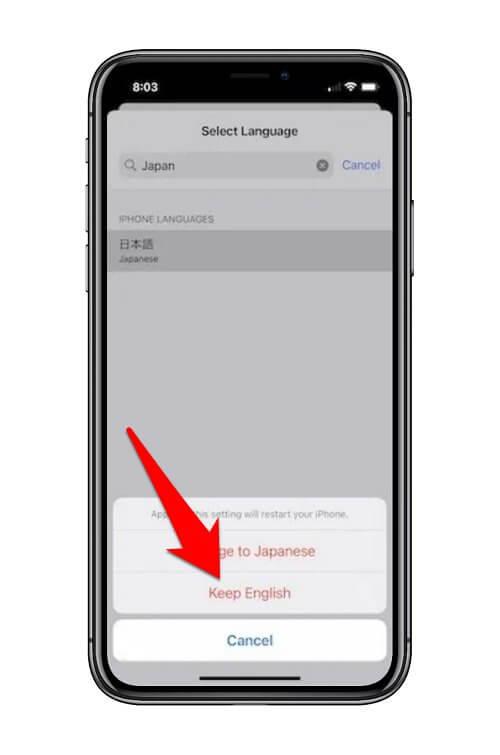تغيير لغة تطبيق محدد في هاتف الآيفون 3
