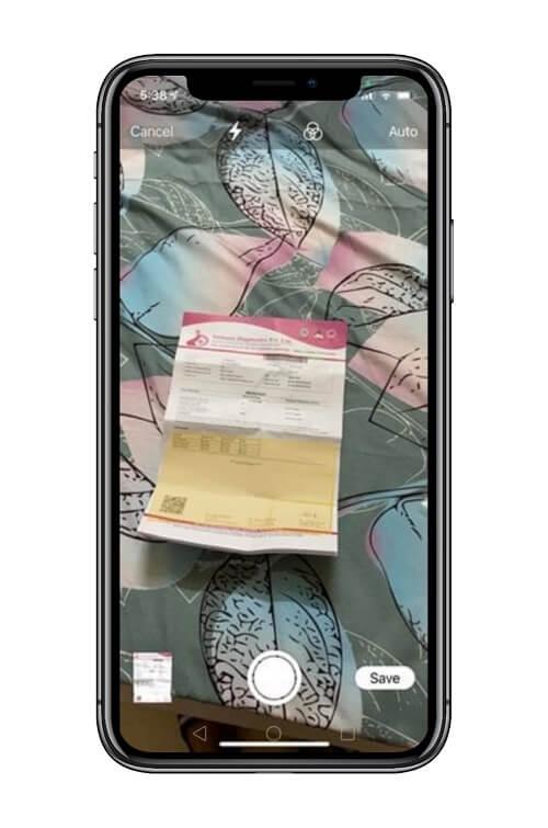 مسح ضوئي للمستندات عبر هاتف iPhone