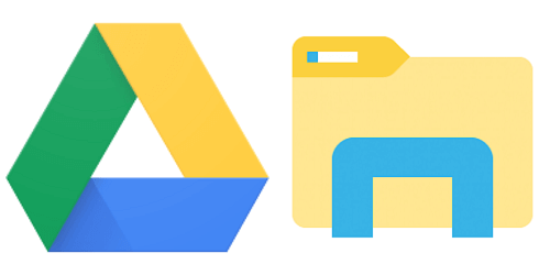 قرص جوجل درايف في مستكشف ملفات ويندوز 10