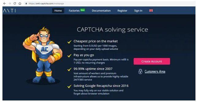 استئجار خدمة حل Captcha