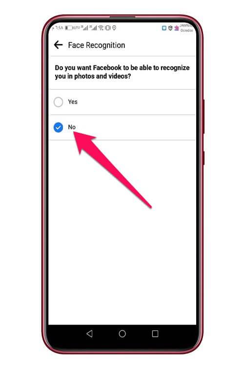 إيقاف ميزة التعرف على الوجه في فيسبوك