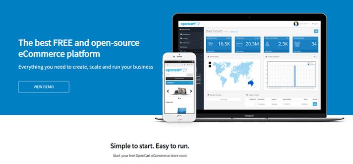 موقع OpenCart