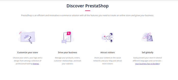موقع PrestaShop