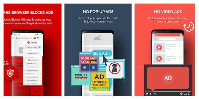 تطبيق AdBlocker Ultimate Browser