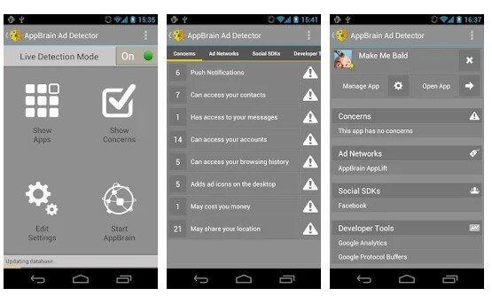 تطبيق AppBrain Ad Detector