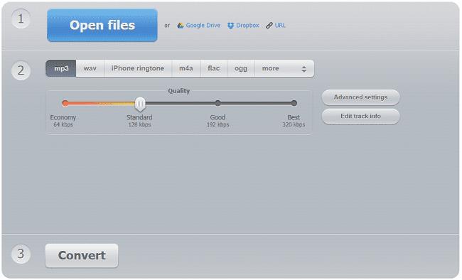 برنامج Online Audio Converter