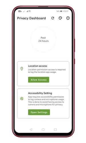 تطبيق Privacy Dashboard 1