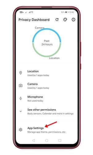 تطبيق Privacy Dashboard 2