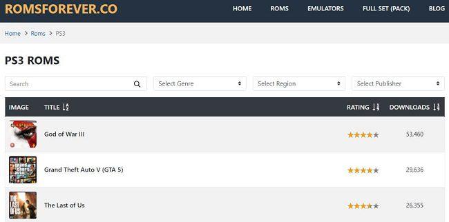موقع ROMSFOREVER تحميل ألعاب مجانًا بلايستيشن 3