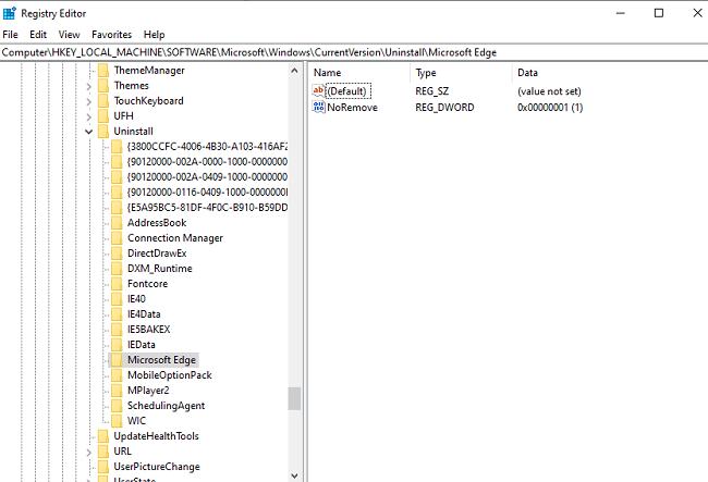 تعذر ازالة البرامج من نظام التشغيل ويندوز 10