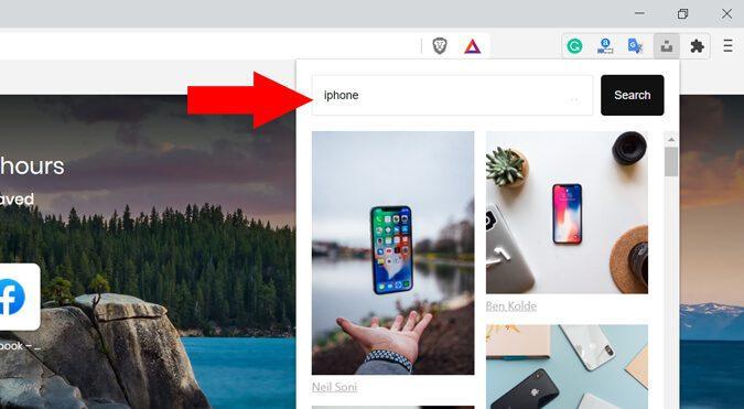 إضافة Unsplash For Chrome