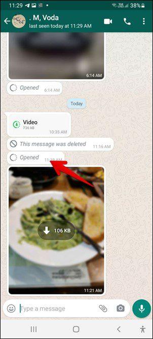 ارسال رسائل واتس آب تختفي بمجرد رؤيتها 4
