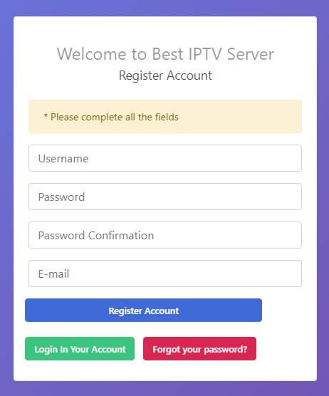 سيرفر IPTV مجاني من موقع 4xiptv 1