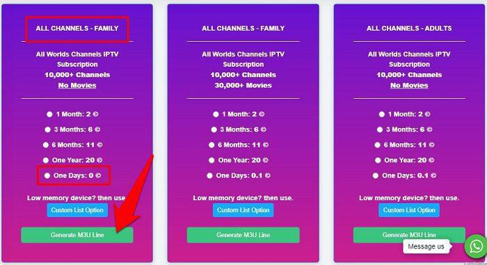 سيرفر IPTV مجاني من موقع 4xiptv 4
