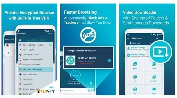 متصفح Tenta Private VPN
