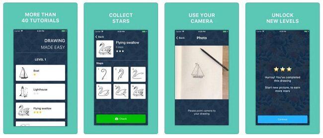 تطبيق Drawy. Drawing step by step