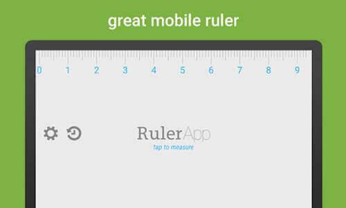 تطبيق Ruler تطبيقات القياس