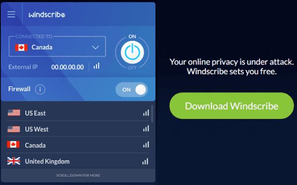برنامج WindScribe  برامج VPN
