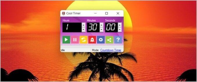 تطبيق cool timer