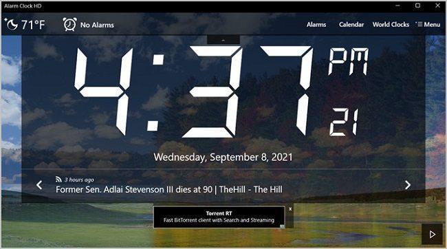 تطبيق alarm clock HD
