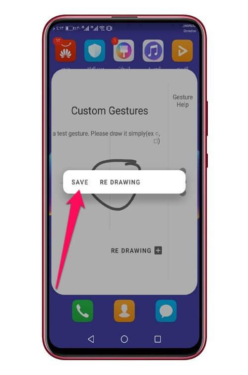 افتح أي تطبيق أو رابط في هاتف الأندرويد عبر الرسم على الشاشة 1