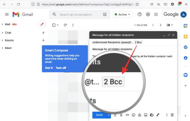 اخفاء عناوين المستلمين في Gmail 8