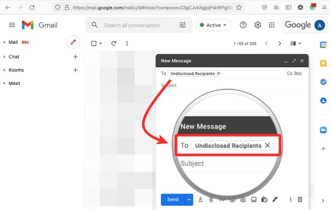 اخفاء عناوين المستلمين في Gmail 4